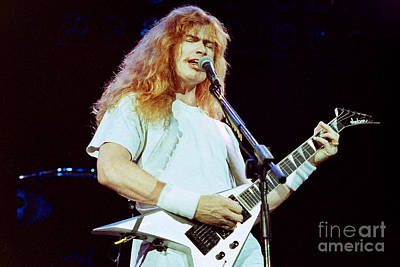 Dave Mustaine Photograph - Megadeath 93-dave-0381 by Timothy Bischoff