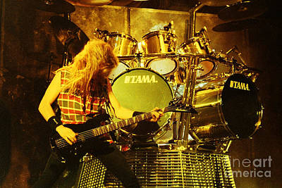 Dave Mustaine Photograph - Megadeath 93-david-0364 by Timothy Bischoff