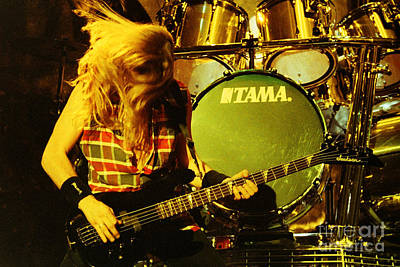 Dave Mustaine Photograph - Megadeath 93-david-0365 by Timothy Bischoff