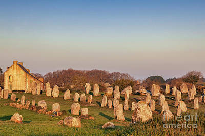 Megalithic Alignments, Carnac Art Print