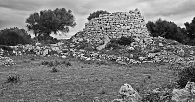 Photograph - Megalithic Building Talaiot In Talati De Dalt Menorca Bronze Age by Pedro Cardona