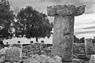 Photograph - Megalithic Building Taula In Binisafua Menorca Bronze Age by Pedro Cardona
