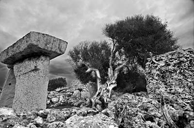 Photograph - Megalithic Building Taula In Talati De Dalt Menorca Bronze Age by Pedro Cardona