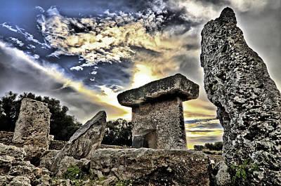 Photograph - Megalithic Building Taula In Trepuco Menorca Bronze Age by Pedro Cardona Llambias