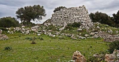Photograph - Megalithic Talaiot In Talati Menorca Bronze Age by Pedro Cardona