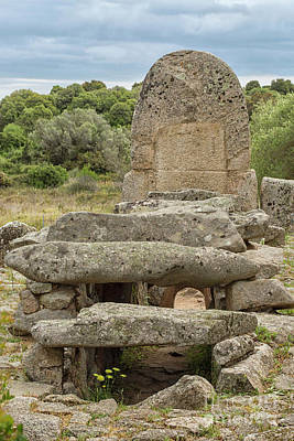Photograph - Megalithic Tomb Of Giants In Sardinia by Patricia Hofmeester