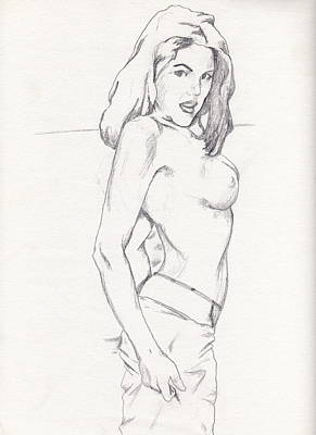 Drawing - Megan - Sketch by Stephen Panoushek