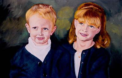 Megan And Justin Art Print by Stan Hamilton