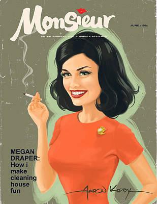 Madison Painting - Megan Draper In Monsieur by Aaron Kirby