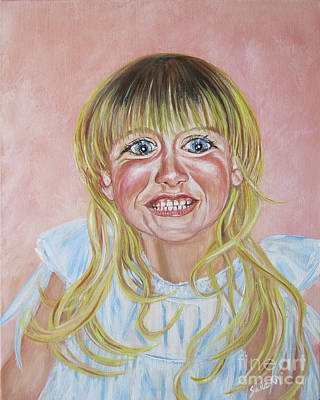 Painting - Megan. Portrait by Oksana Semenchenko