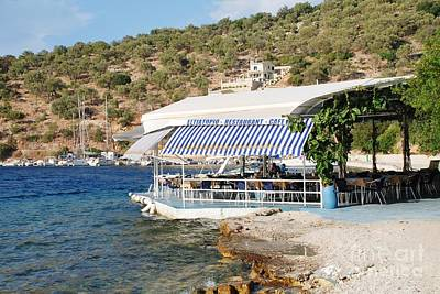 Meganissi Beach Taverna Art Print