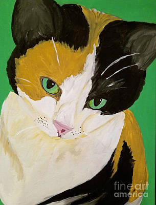 Painting - Megans_kitty_dwp_2016 by Ania M Milo