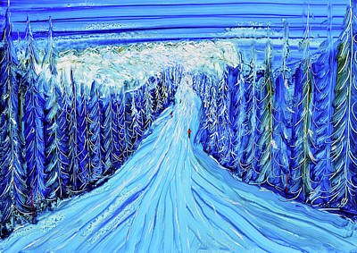 Painting - Megeve L' Alpette Skiing Painting by Pete Caswell