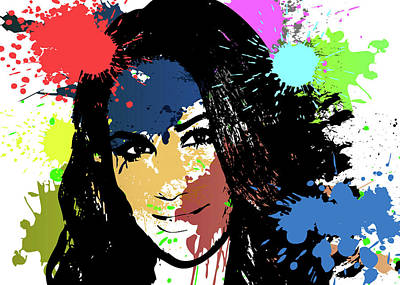 Digital Art - Meghan Markle Pop Art by Ricky Barnard