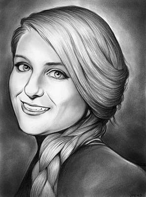 Trainer Drawing - Meghan Trainer by Greg Joens