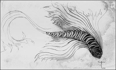 Drawing - Megic Fish 3 by James Lanigan Thompson MFA