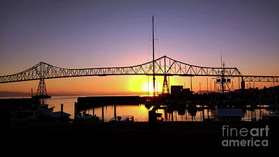 Photograph - Megler Bridge Sunrise by Denise Bruchman