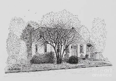 Drawing - Megs House by Michelle Welles