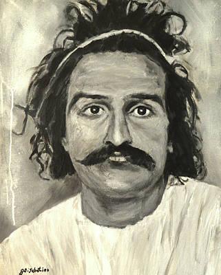 Meher Baba Painting - Meher Baba With Headband by Joe DiSabatino