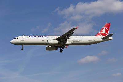 Photograph - Mehmet Airways Airbus A321 by David Pyatt