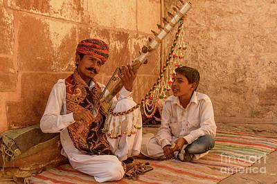Photograph - Mehrangarh Musician by Werner Padarin