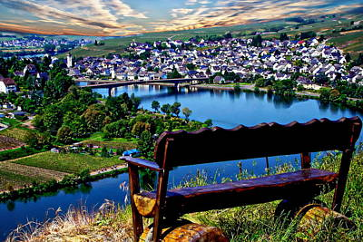 Photograph - Mehring And The Mosel River Valley by Anthony Dezenzio
