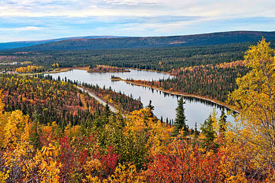 Photograph - Meiers Lake And Richardson Highway by Cathy Mahnke