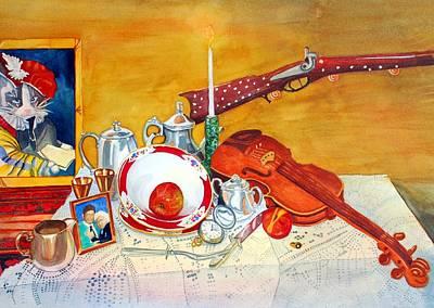 Table Cloth Painting - Meine Familie Geschichte by Gerald Carpenter
