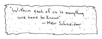 Meir Schneider Art Print by Michael Mooney