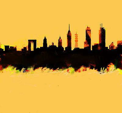 Meixco City Df Skyline Art Print