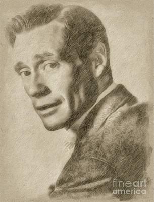 Singer Drawing - Mel Ferrer, Actor by Frank Falcon