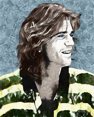 Drawing - Mel Gibson Collection -1 by Sergey Lukashin