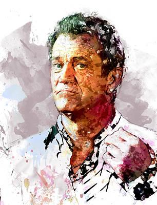 Mel Gibson Art Print by Elena Kosvincheva