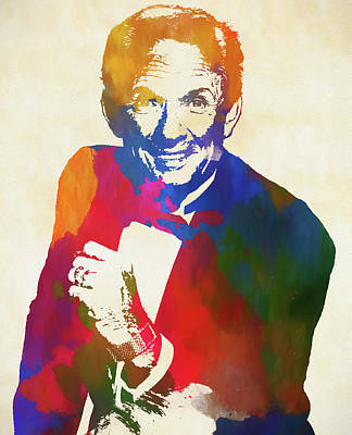 Painting - Mel Tillis Watercolor Tribute by Dan Sproul