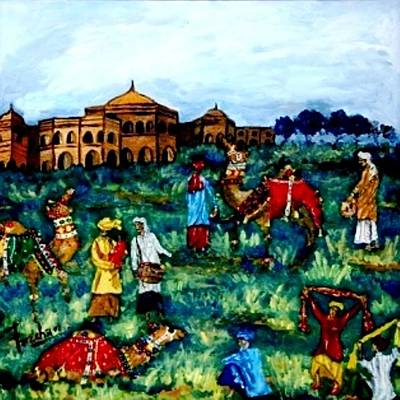 Painting - Mela - Carnival by Fareeha Khawaja