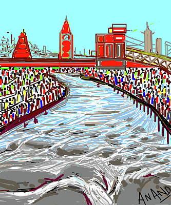 Digital Art - Mela At Haridwar  by Anand Swaroop Manchiraju