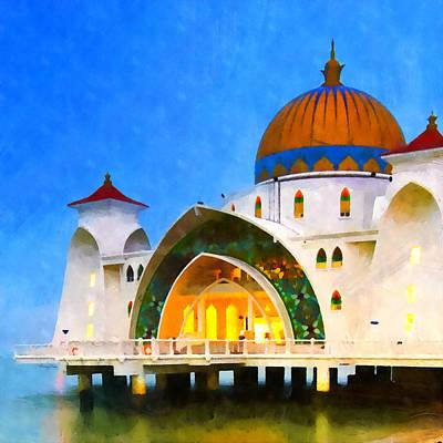 Melaka Straits Mosque Art Print