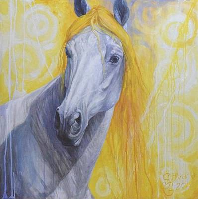 Horse Head Painting - Melancholia by Silvana Gabudean Dobre