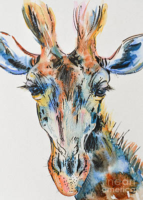 Painting - Melancholic Giraffe by Zaira Dzhaubaeva