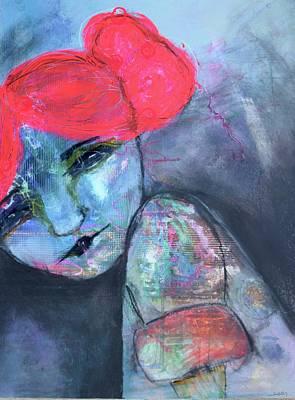 Wall Art - Mixed Media - Melancholic Whispers by Jen Walls