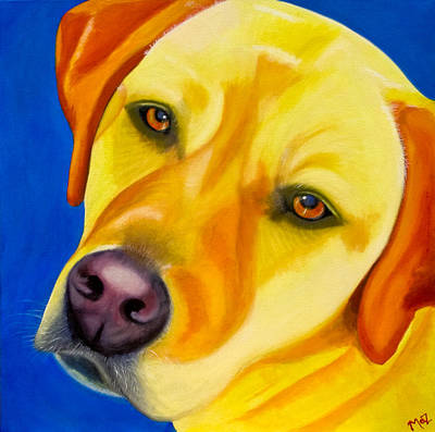 Golden Lab Painting - Melancholy Baby by Maz
