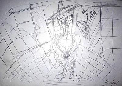 Drawing - Melancholy by Bennu Bennu