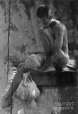 Photograph - Melancholy Days Collage Bw by Robert D McBain