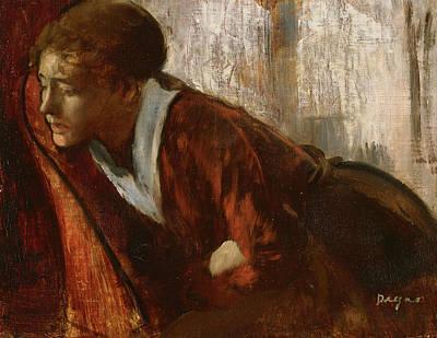 Melancholy Painting - Melancholy, Late 1860s.  by Edgar Degas