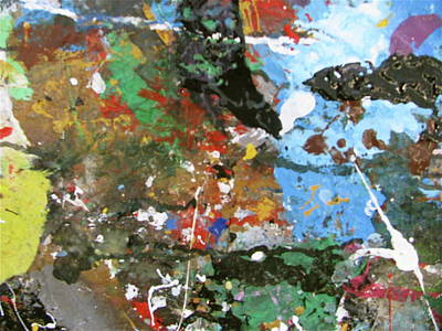 Art Print featuring the painting Melancholy Man by Melinda Saminski