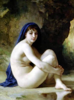 Melancholy Nude  Art Print