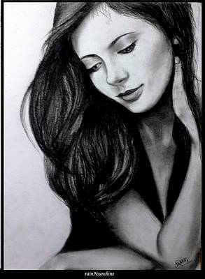 Drawing - Melancholy by Trinath Sen