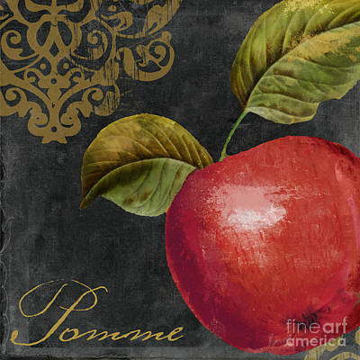 Fruit Tree Art Painting - Melange Apple Pomme by Mindy Sommers