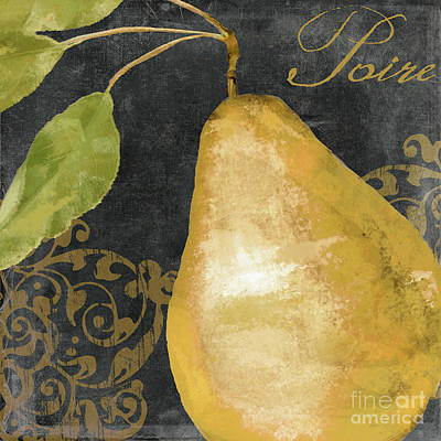 Melange French Yellow Pear Art Print by Mindy Sommers