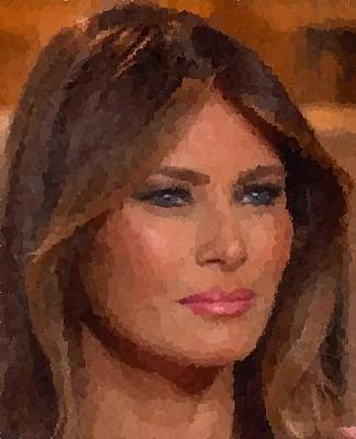 Painting - Melania Trump by Samuel Majcen